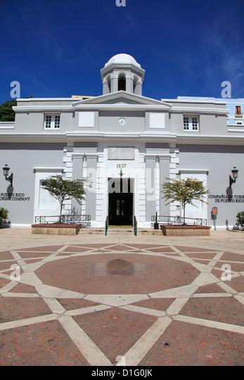 Museum, Puerto Rico Tourism Company, Paseo De La Princesa (Gehweg der Prinzessin), Old San Juan, Puerto Rico, West Stockbild