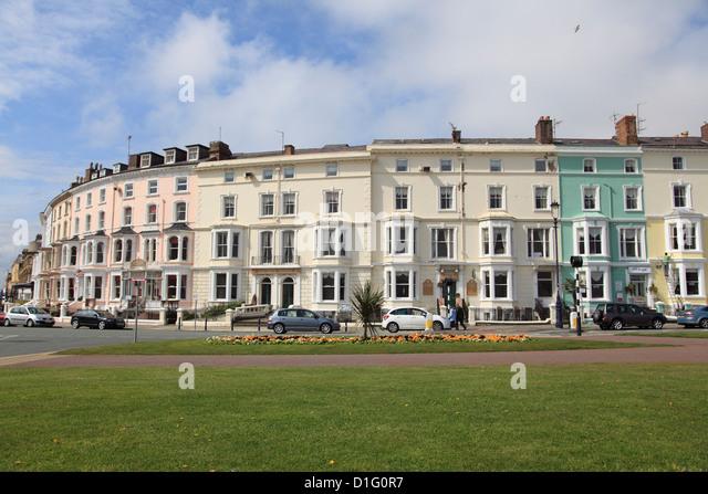 Farbenfrohe Architektur, Llandudno, Conwy Grafschaft, Nord-Wales, Wales, Vereinigtes Königreich, Europa Stockbild