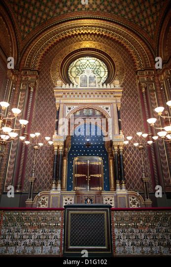 Die spanische Synagoge erbaut 1868, Prag, Tschechische Republik, Europa Stockbild