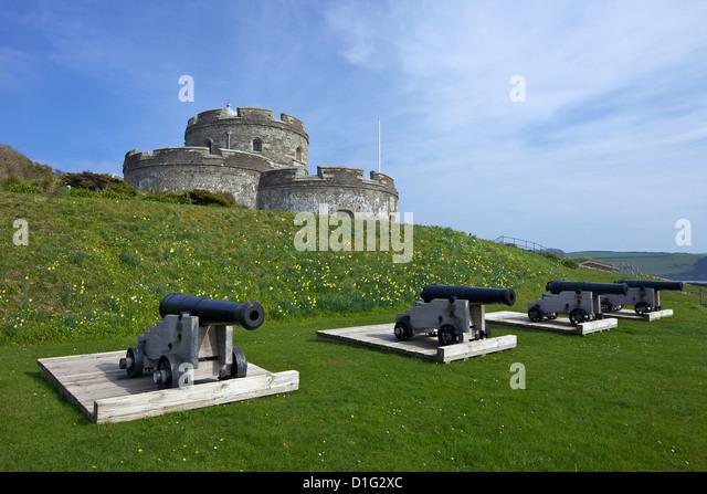 St. Mawes Castle, eine Artillerie-Festung, erbaut von Heinrich VIII., Cornwall, England, Vereinigtes Königreich, Stockbild