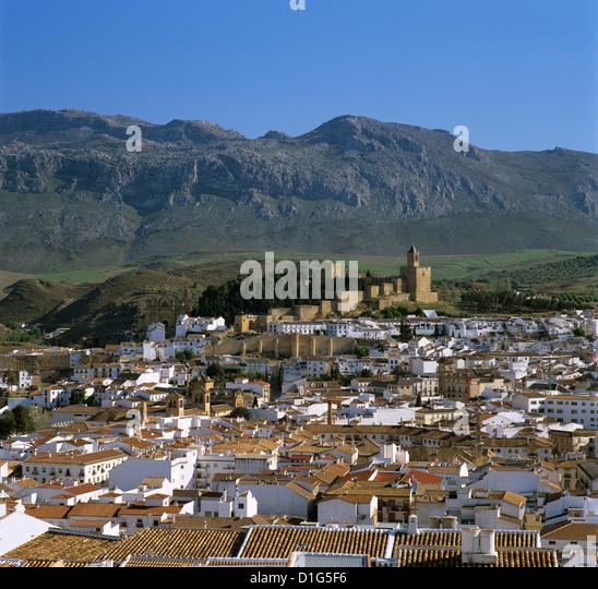Alcazaba und Altstadt, Antequera, Andalusien, Spanien, Europa Stockbild