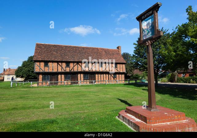 15. Jahrhundert Moot Hall, Elstow, Bedfordshire, England, Vereinigtes Königreich, Europa Stockbild