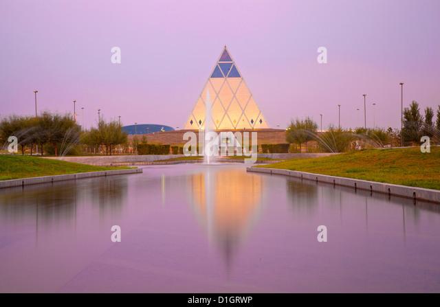 Palast des Friedens und der Versöhnung Pyramide, entworfen von Sir Norman Foster, Astana, Kasachstan, Zentralasien, - Stock-Bilder