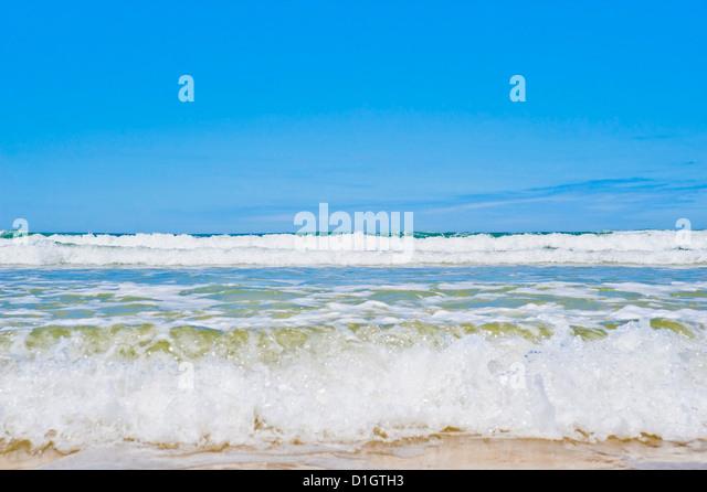 Tropisches Paradies von siebzig fünf Mile Beach, Fraser Island, UNESCO-Weltkulturerbe, Queensland, Australien, Stockbild