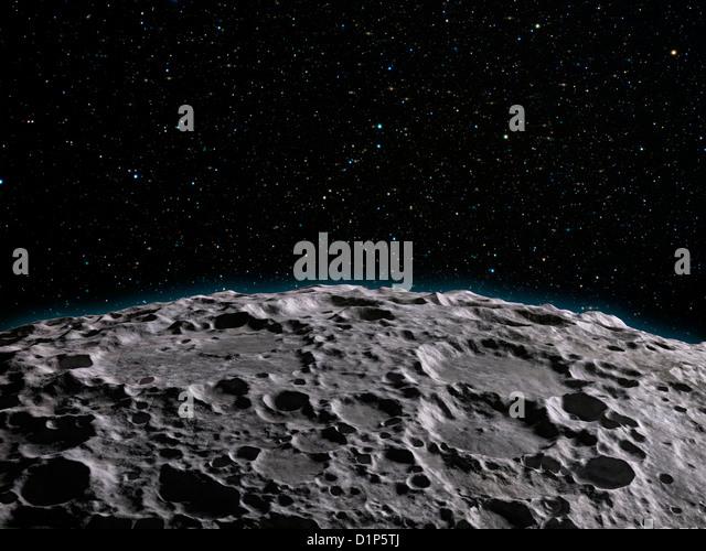 Mond Oberfläche, Kunstwerk Stockbild