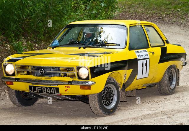 1972 Opel Ascona auf der Rallye-Bühne mit Fahrer Paul Howarth auf die 2012 Goodwood Festival of Speed, Sussex, Stockbild