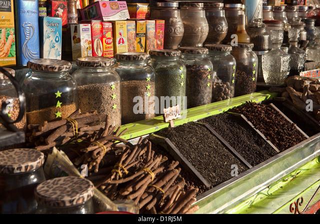 Marokko, Marrakesch, Markt Gewürze Stockbild