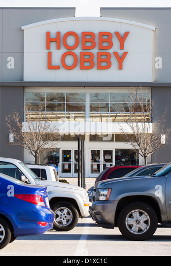 Hobby Lobby Ladengeschäft. Stockbild