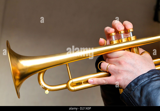 Musiker der Trompete Stockbild
