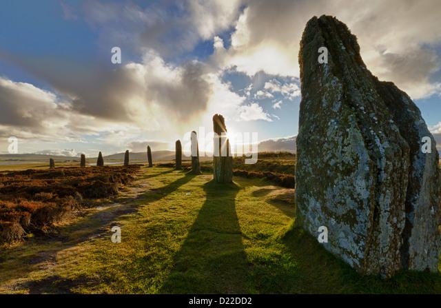 Ring of Brodgar Steinkreis, Orkney Inseln Stockbild