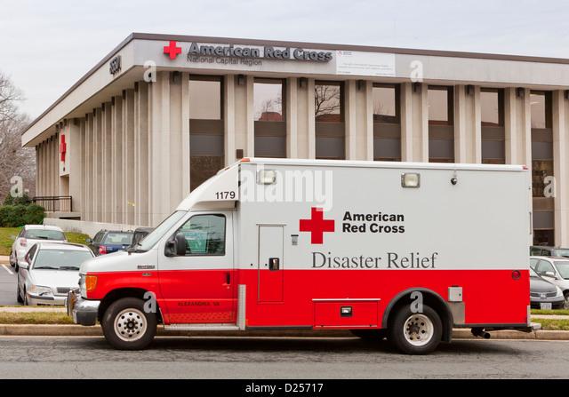 American Red Cross Disaster Relief LKW Stockbild