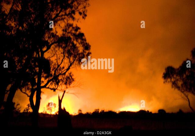 Heyfield, Victoria, Australien. 18. Januar 2013. Buschfeuer brennen außer Kontrolle geraten, durch Victoria Stockbild