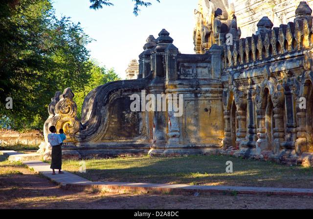 Mahar Aung Mye Bon Kloster San, INNWA, Stockbild