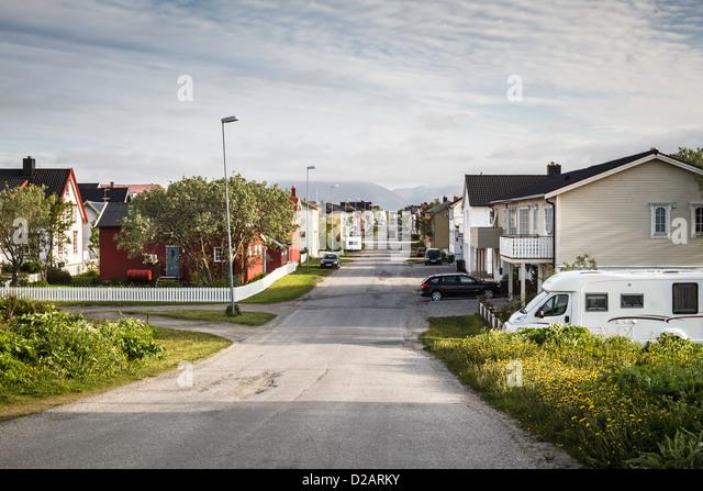 Häuser im Vorort Stockbild