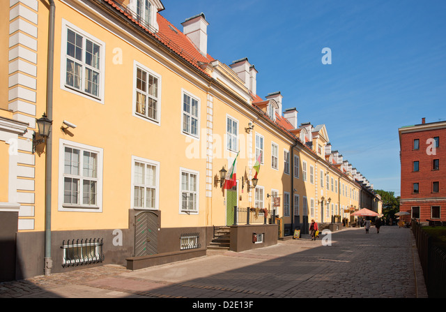 Jakobs-Kaserne - das längste Gebäude in Riga Stockbild