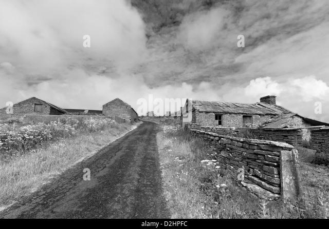 Wüstung auf Orkney Insel Westray Stockbild