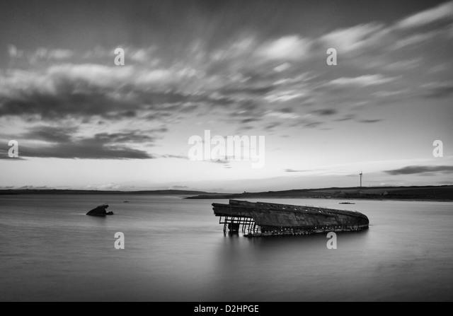 Orkney Blockship Reginald in Weddell-Sound Stockbild