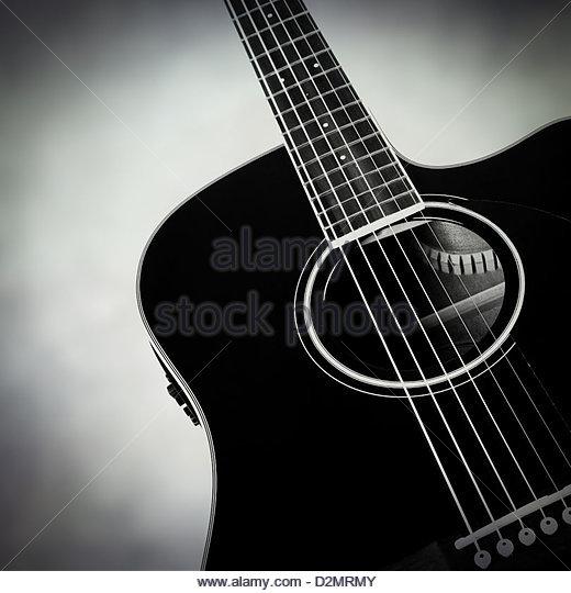 Akustik-Gitarre Stockbild