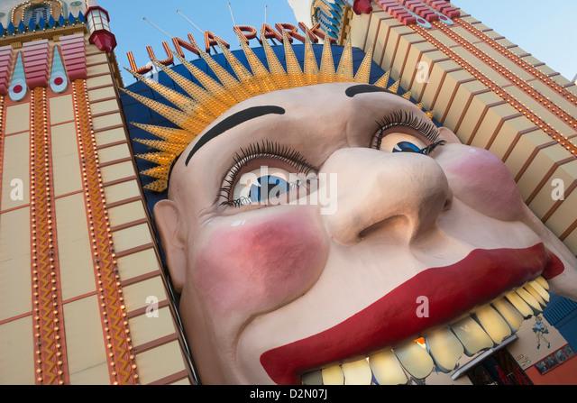Luna Park Eingang, Sydney, New South Wales, Australien, Pazifik Stockbild