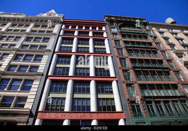 Historische Loft Architektur, Soho, Manhattan, New York City, Vereinigte Staaten von Amerika, Nordamerika Stockbild