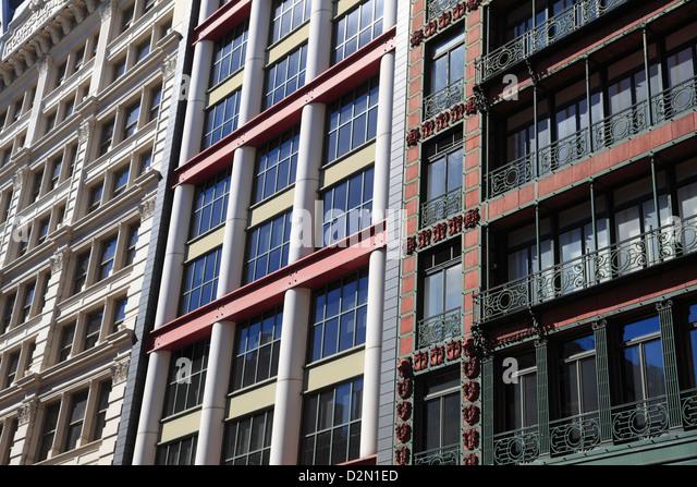 Loft-Gebäude, Soho, Manhattan, New York City, Vereinigte Staaten von Amerika, Nordamerika Stockbild
