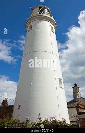 Stadtzentrum Leuchtturm, vom Ziegelstein errichtet, im Jahre 1890, aufgeführt im Grade II, Gebäude und Stockbild