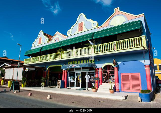 Kralendijk Hauptstadt von Bonaire, ABC-Inseln, Niederländische Antillen, Karibik, Mittelamerika Stockbild