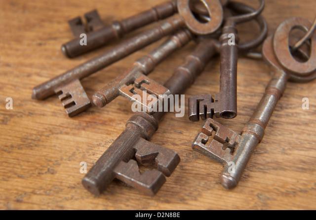 Bund der alten Fashioned Vintage Keys Stockbild