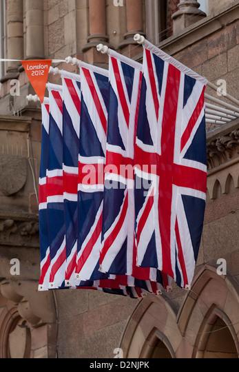 Flagge von Großbritannien Stockbild
