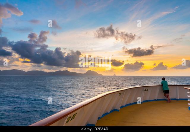 Fort de France in Martinique Karibik-Insel Sonnenaufgang tropischen Ansicht l Stockbild