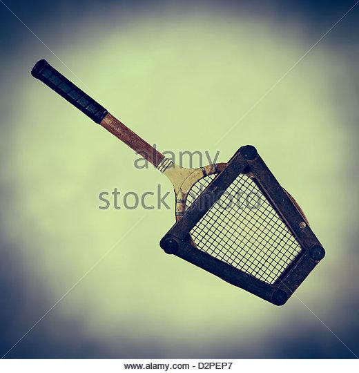 Old fashioned Tennisschläger Stockbild