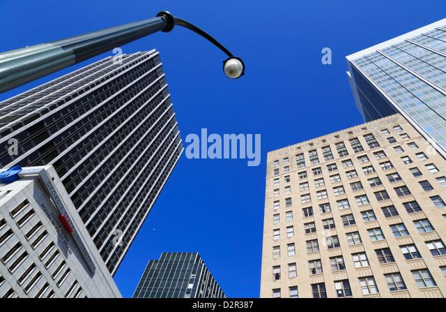 Wolkenkratzer in fünf Punkten District, Atlanta, Georgia, Vereinigte Staaten von Amerika, Nordamerika Stockbild