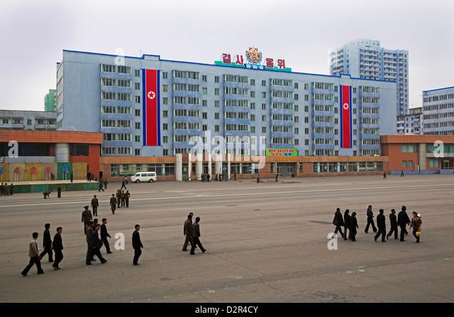 Typische Stadtarchitektur, Pyongyang, Demokratische Volksrepublik Korea (DVRK), Nordkorea, Asien - Stock-Bilder