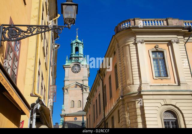 Architektur, Stortorget Platz, Gamla Stan, Stockholm, Schweden, Europa Stockbild