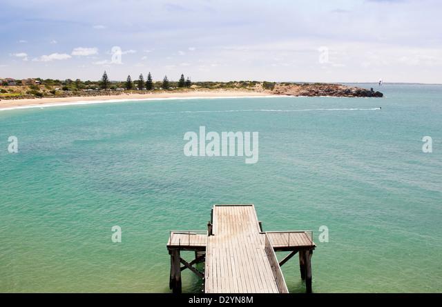 Beautiful Horseshoe Bay, touristische Attraktion in der Nähe von Victor Harbour in South Australia Stockbild