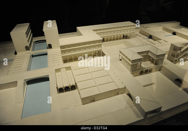 Die ideale Stadt von Leonardo Da Vinci (1452-1519). Modell. Nationalmuseum der Wissenschaft und Technik Leonardo Stockbild