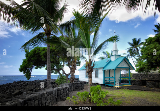Katholische Kirche St. Peter. Kona, Hawaii Big Island. Stockbild