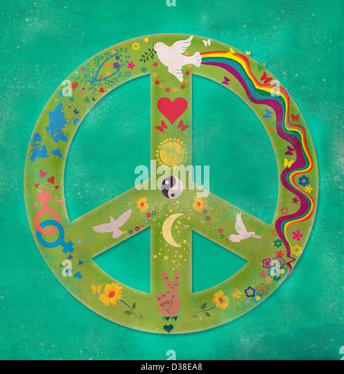 Anschauliches Bild von Friedenssymbol Stockbild