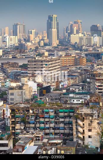 Die Stadt Bangkok, Luftaufnahme von The Grand China Princess Hotel, Bangkok, Thailand Stockbild