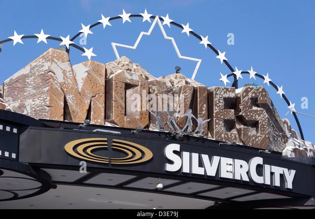 SilverCity Kino Filme Sign. Stockbild