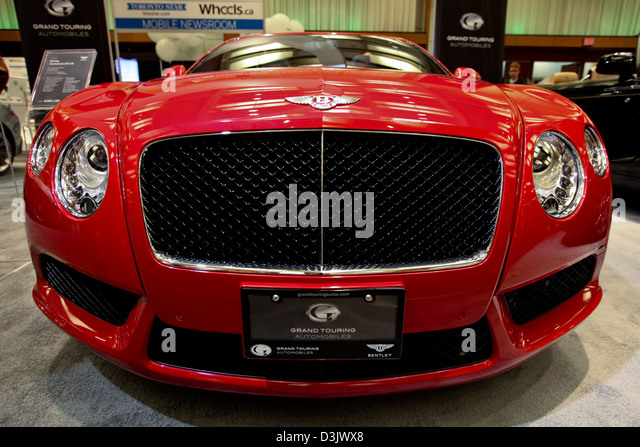 roten Bentley Frontgrill Stockbild