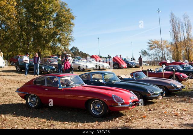 Oldtimer Jaguar-Auto-Rallye in Parkes. Canberra, Australian Capital Territory (ACT), Australien Stockbild
