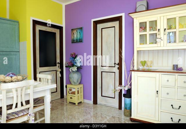 Vintage Esszimmer Stockbild