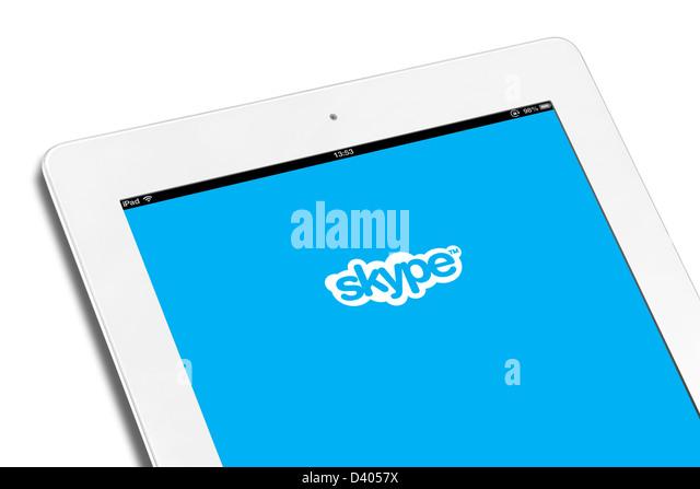 Die VOIP Skype app auf dem iPad eine 4. generation Stockbild