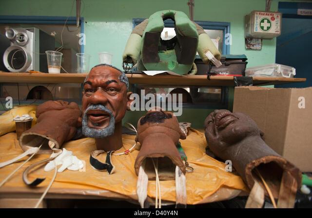 Nairobi, Kenia. 26. Februar 2013. Die Woche vor Kenia an der Wahlurne geht erwartet die Marionette Kopf von Kofi Stockbild