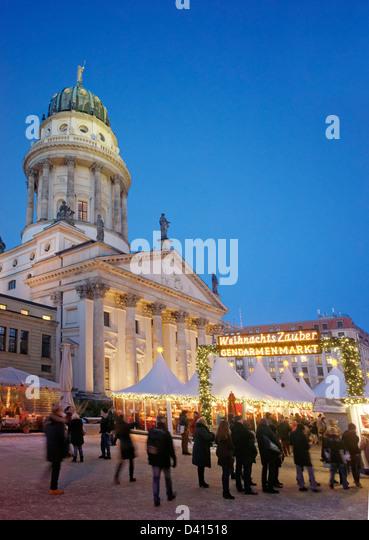 Weihnachtsmarkt Gendarmenmarkt, Gendarmenmarkt, Berlin, Deutschland Stockbild
