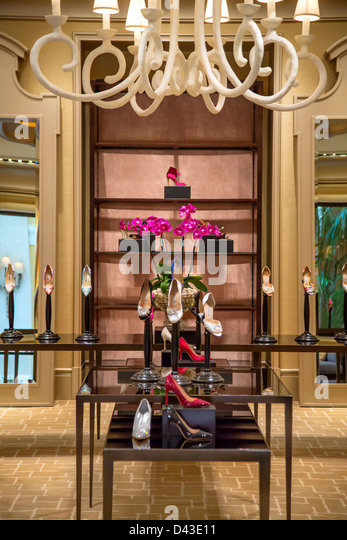 Manolo Blahnik boutique Stockbild