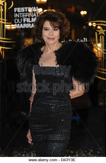 Französische Schauspielerin Fanny Ardant kommt Festival der Film Marrakesch © William Stevens Stockbild