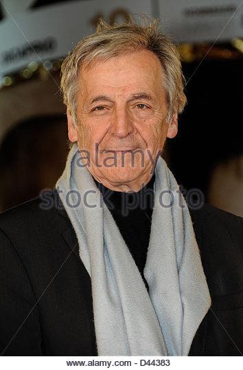Regisseur Costa-Gavras kommt Festival International Film Marrakesch © William Stevens Stockbild