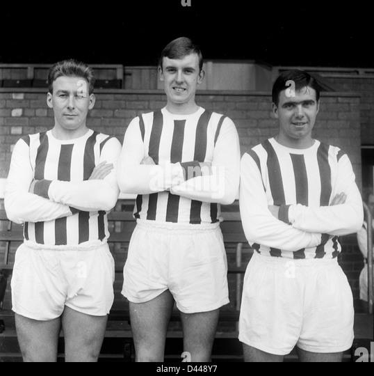 West Bromwich Albion FC Fußballer 1963 Chuck Drury, Bill Williams, Bobby Hope Stockbild